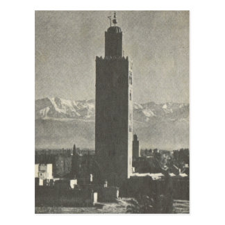 Vintage Marrakesh, Maroc, La Koutoubia Tarjetas Postales