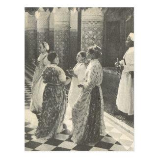 Vintage Marrakesh, Maroc, señoras Tarjetas Postales
