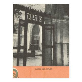 Vintage Marrakesh, Maroc, tumba de Ben Slimane Postal