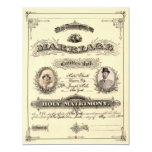 Vintage Marriage License Custom Invitation