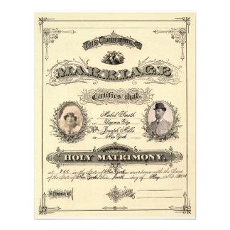 Vintage Marriage License Custom Invitation