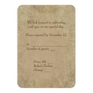 vintage Marriage License RSVP Card