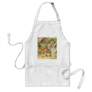 Vintage Marriage of Thumbelina and Prince Adult Apron