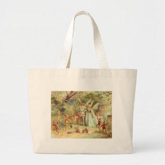 Vintage Marriage of Thumbelina and Prince Jumbo Tote Bag