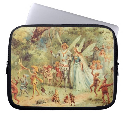 Vintage Marriage of Thumbelina and Prince Laptop Sleeve