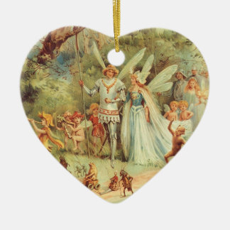 Vintage Marriage of Thumbelina and Prince Christmas Ornament