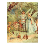 Vintage Marriage of Thumbelina and Prince Postcards