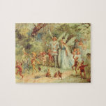 Vintage Marriage of Thumbelina and Prince Puzzle