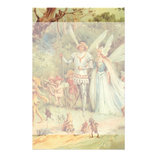 Vintage Marriage of Thumbelina and Prince Stationery