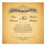 Vintage Marriage Paper Wedding Invitations Swirls