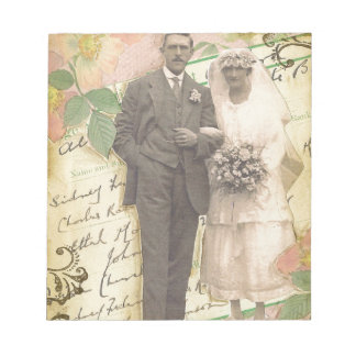 Vintage marriage photo of 4th august 1919 notepads