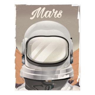 Vintage Mars Astronaut Postcard