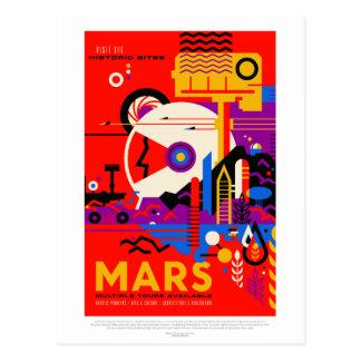 Vintage Mars Historic Sites Space Travel Postcard