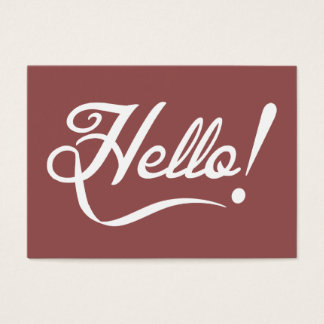 Vintage Marsala - Hello Business Card