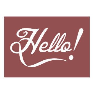 Vintage Marsala - Hello Large Business Card