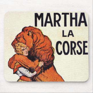 Vintage Martha La Corse Lion Tamer Mouse Pad