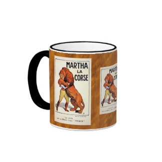Vintage Martha La Corse Lion Tamer Ringer Mug
