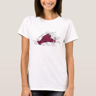 Vintage Martha's Vineyard, black on burgundy T-Shirt