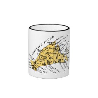 Vintage Martha's Vineyard, black on gold Ringer Mug