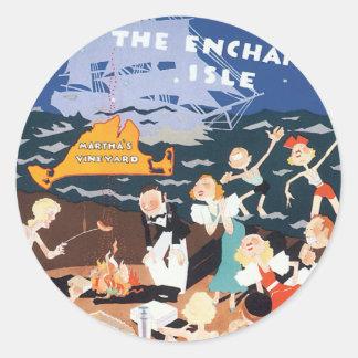 Vintage Martha's Vineyard Classic Round Sticker