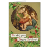 Vintage Mary and Jesus Christmas Card