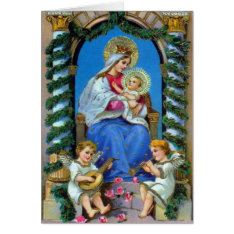 Vintage Mary and Jesus Image - Christmas Card at Zazzle
