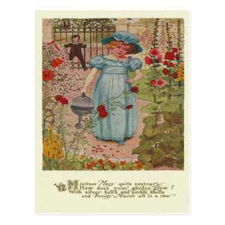 Vintage Mary, Mary Rhyme Postcard