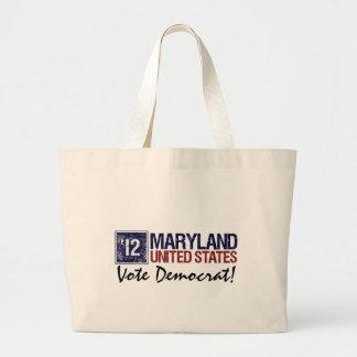 Vintage Maryland de Demócrata del voto en 2012 - Bolsas De Mano