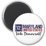 Vintage Maryland de Demócrata del voto en 2012 - Imanes