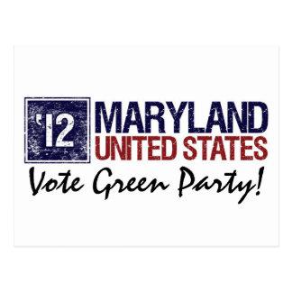 Vintage Maryland del Partido Verde del voto en 201 Postales