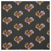 Vintage Maryland Flag Hearts Fabric