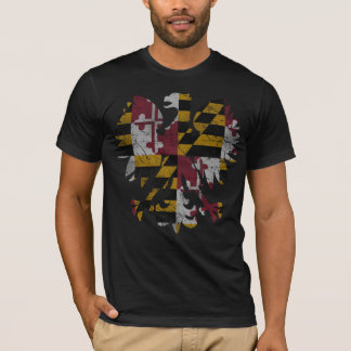Vintage Maryland Polish Eagle Flag T-Shirt