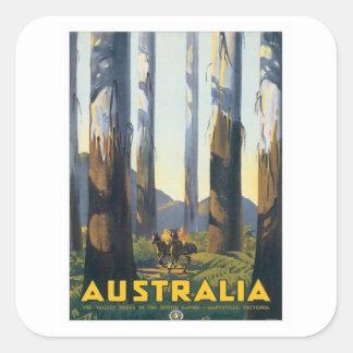 Vintage Marysville Victoria Australia Square Sticker