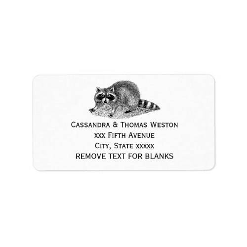 Vintage Masked Raccoon Label