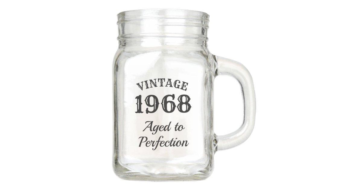 Vintage Mason Jar Beer Mug Gift For Men S Birthday