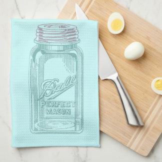Vintage Mason Jar (Customize your Kitchen Colors) Kitchen Towels