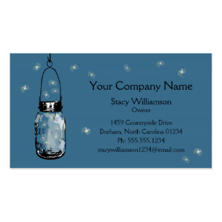 Vintage Mason Jar & Fireflies Double-Sided Standard Business Cards (Pack Of 100)