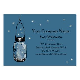Vintage Mason Jar & Fireflies Large Business Cards (Pack Of 100)