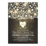 vintage mason jar floral wedding invites