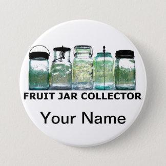 Vintage Mason Jar Fruit Jars Collector Club Show Pinback Button