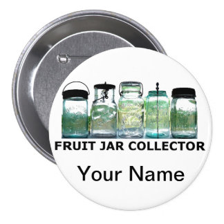 Vintage Mason Jar Fruit Jars Collector Club Show Pinback Button