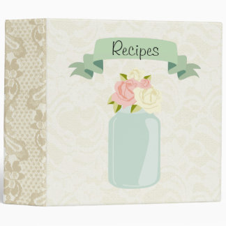 Vintage Mason Jar Recipe Binder