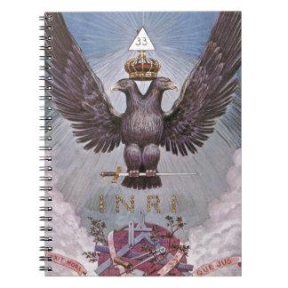 Vintage Masonic Print Spiral Notebook