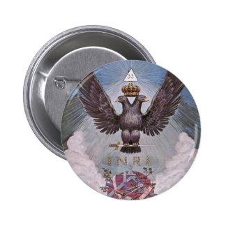 Vintage Masonic Print Pinback Button