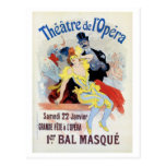 Vintage masquerade ball in the Opera Chéret Postcard