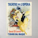 vintage masquerade ball in the opera theatre ad print