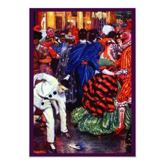 Vintage masquerade ball custom invitation