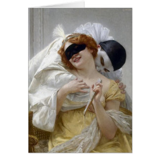 Vintage Masquerade Pierrot Greeting Cards