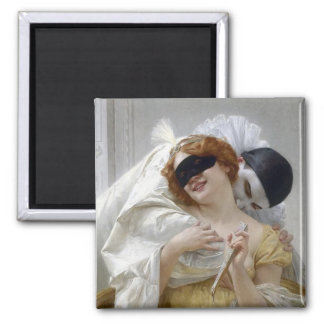 Vintage Masquerade Pierrot Lovers Magnet