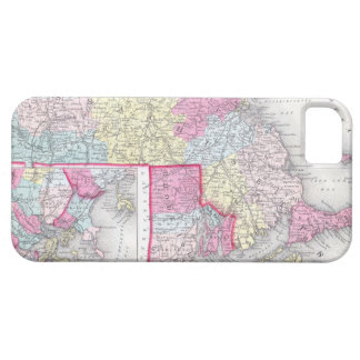 Vintage Massachusetts and Rhode Islands Map (1855) iPhone 5 Cover